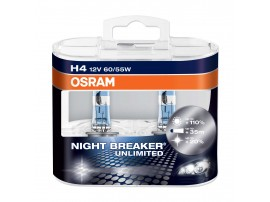 Комплект ламп Osram H1 12V 55W NIGHT BREAKER UNLIMITED + 110% (2шт)