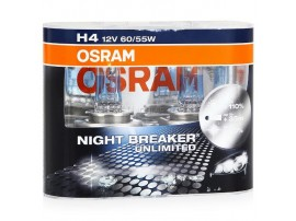 Комплект ламп Osram H4 12V 60/55W NIGHT BREAKER UNLIMITED+110% (2шт)