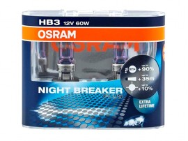 Лампы Osram HВ3/9005 12V 60W NIGHT BREAKER PLUS+90% (2шт)